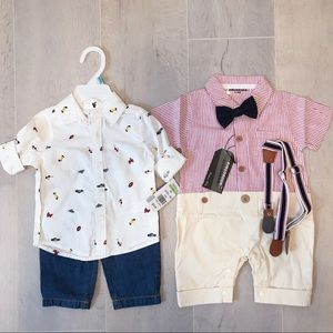 NWT 2 sets Toddler shirts, jeans and pants 6-9M